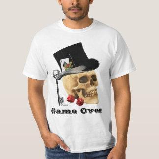 Gothic gambling skull, game over T-Shirt