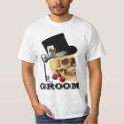Gothic gambling skull groom T-Shirt