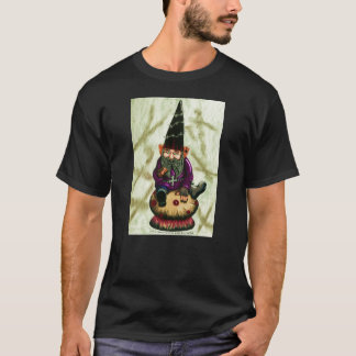 Gothic Garden Gnome & Mushroom T-Shirt