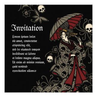 Gothic Geisha Invitations