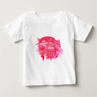 gothic german building digital effect red tint baby T-Shirt