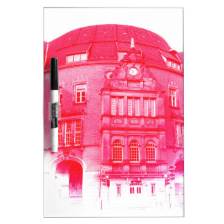 gothic german building digital effect red tint dry erase board