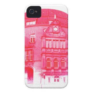 gothic german building digital effect red tint iPhone 4 cases