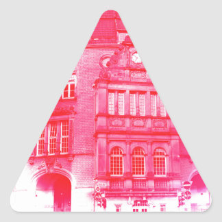 gothic german building digital effect red tint triangle sticker