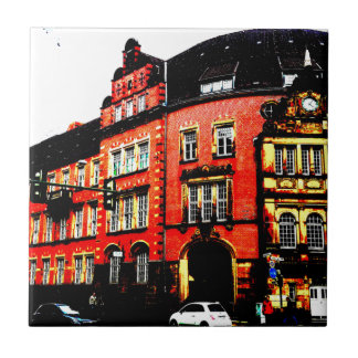 gothic german building mystic view ceramic tile