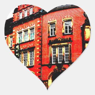 gothic german building mystic view heart sticker