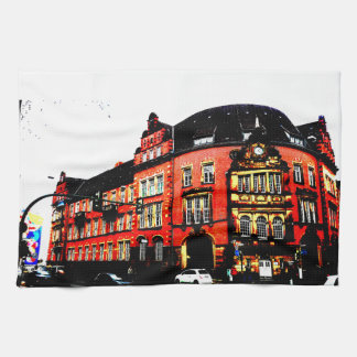 gothic german building mystic view kitchen towels
