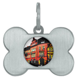 gothic german building mystic view pet ID tags