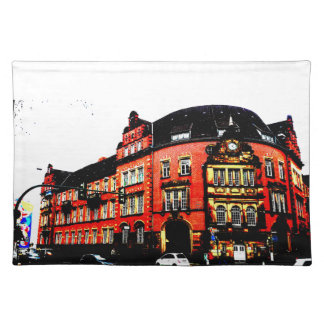 gothic german building mystic view placemat