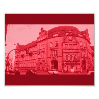 gothic german building mystic view red photo print