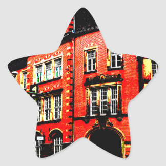 gothic german building mystic view star sticker