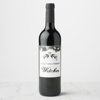 Gothic GETTING MARRIED Wine Label