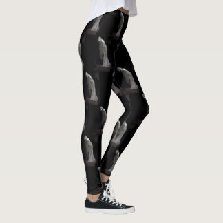 Gothic ghost patterned leggings