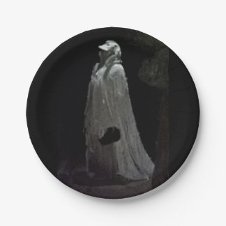 Gothic ghoul paper plate