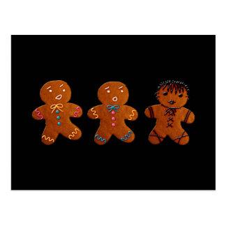 Gothic Gingerbread Man Postcard