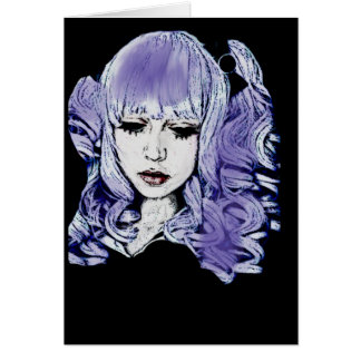 Gothic Girl All Occasion Greeting Card