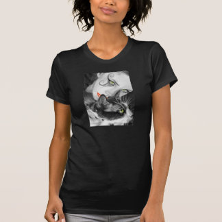 Gothic Girl Kitty T-shirts Women/Men