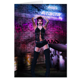 Gothic Girls Back Alley Babe Card