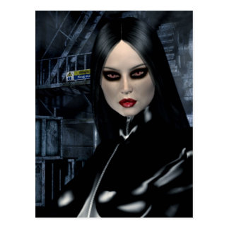 Gothic Girls Cyber Vamp postcard