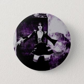 Gothic Girls Grunge Doll button
