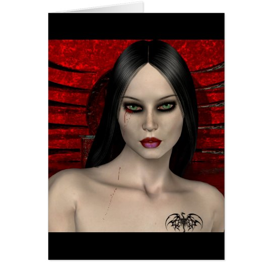 Gothic Girls No Turning Back note card
