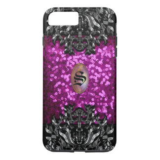 Gothic Gleam Chic Bling Monogram iPhone 8 Plus/7 Plus Case