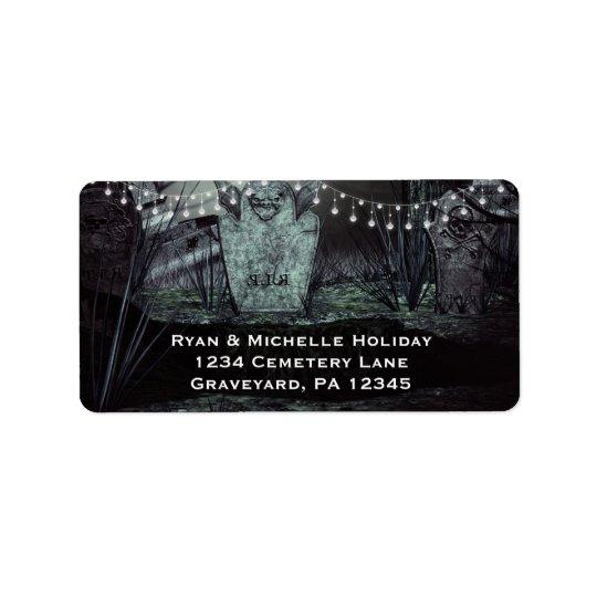 Gothic Graveyard with Enchanting Lights Address