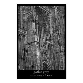 gothic gray poster