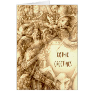 Gothic Greetings Card