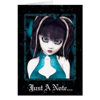 Gothic Grunge Doll Greeting Card