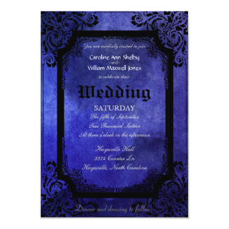 Gothic Grunge Filigree Wedding Invitation