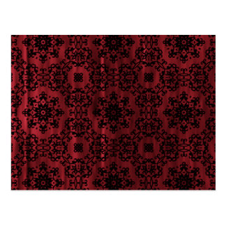Gothic grungy red and black mandala postcard
