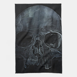 Gothic halloween medical skeleton bone Xray Skull Kitchen Towel