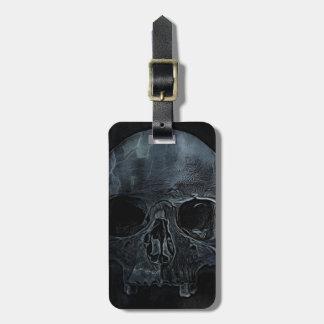 Gothic halloween medical skeleton bone Xray Skull Luggage Tag