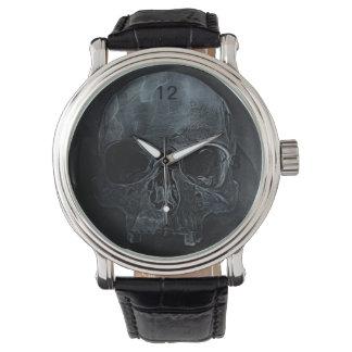 Gothic halloween medical skeleton bone Xray Skull Wrist Watches