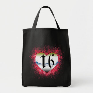 Gothic Heart 16th Tote Bags
