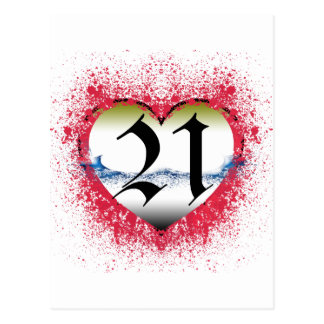 Gothic Heart 21st Postcard