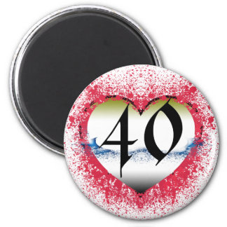 Gothic Heart 40th Fridge Magnets