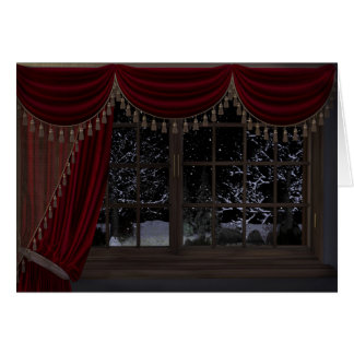 Gothic Holiday: Winter Landscape Window Card