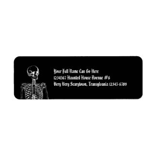 Gothic Horror Skeleton Return Address Label