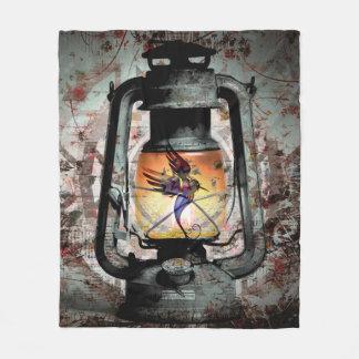 Gothic Hummingbird Lantern Fleece Blanket