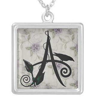 'Gothic Initial A' Necklace