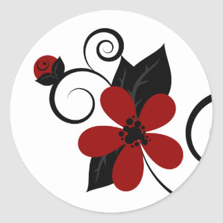 Gothic Kokeshi Flower Sticker