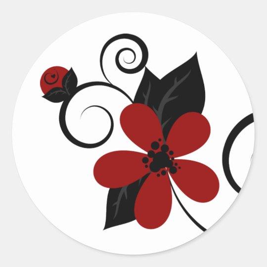 Gothic Kokeshi Flower Sticker