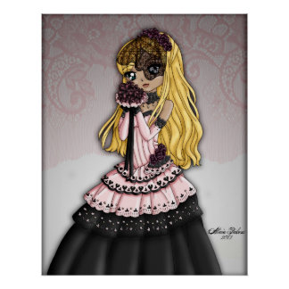 Gothic Lace Bride - Blonde Poster