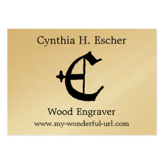 """Gothic Letter """"E"""" Classic English Initial Large Business Card"""