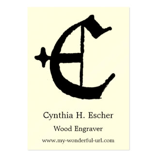 "Gothic Letter ""E"" Classic English Initial Pack Of Chubby Business Cards"