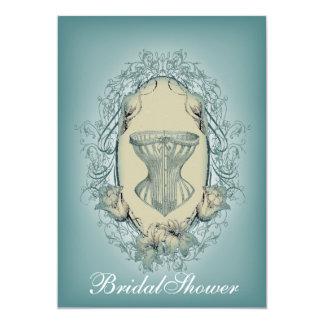 Gothic Lingerie party vintage corset bridal shower Card