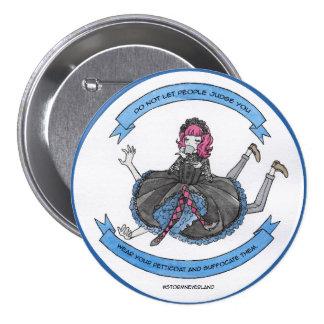 Gothic Lolita 3 Inch Round Button