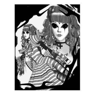 gothic lolita postcard